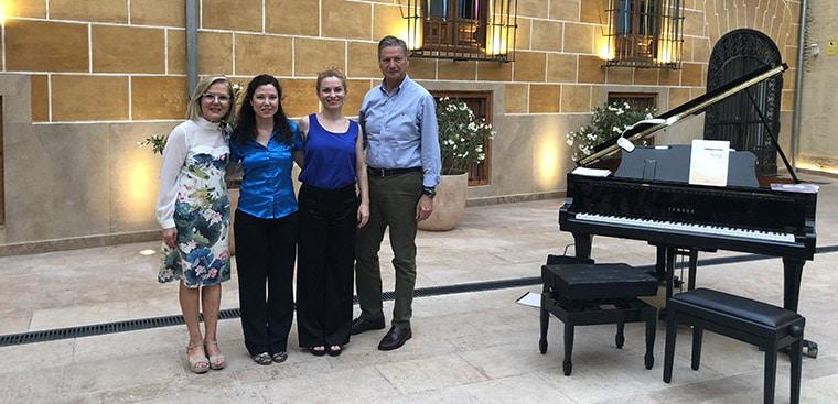 Recital Benéfico de piano a cuatro manos en el Museo de la Seda