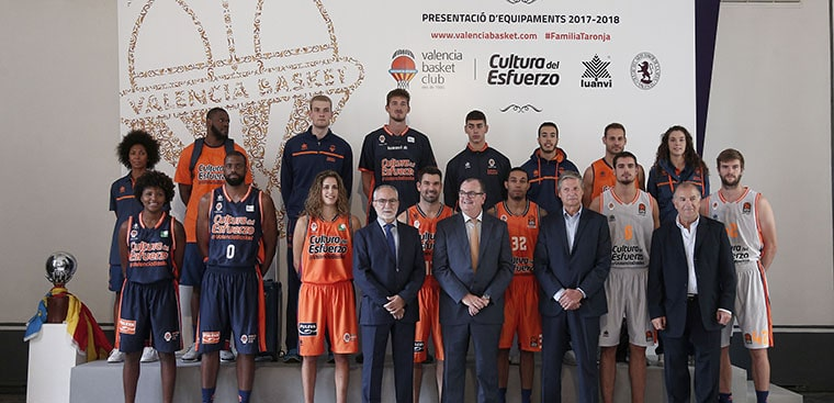 València Basket presenta sus equipaciones en Museo de la Seda València