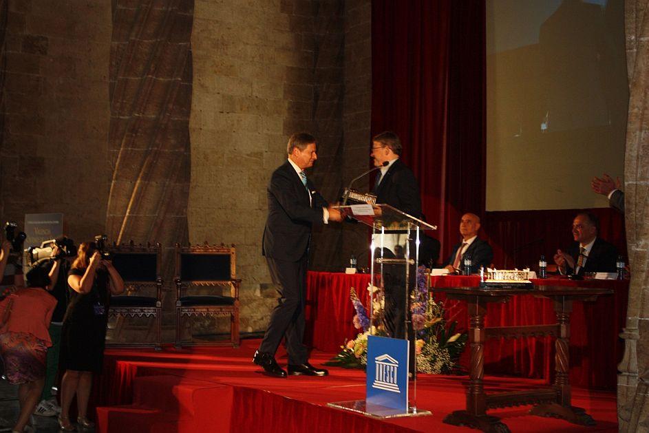Entrega del Premio UNESCO Valencia Seda 2016 al Colegio del Arte Mayor de la Seda